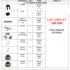 Lots de pièces détatchées Mugen Seiki MBX6/MBX7/MBX7R